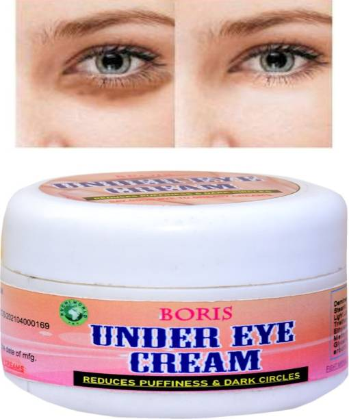 BORIS Reduces the appearance of Dark circles-Bye Bye Dark Circles Under Eye Cream || Reduces Eye Puffiness, Eye Bags || Improves Firmness under the Eye Skin || Under Eye Cream for Dark Circle || Dark Circle Remover Cream for Women & Men[PACK OF ONE]