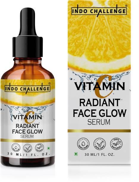 INDO CHALLENGE Vitamin C Serum Powerful Anti-aging, whitening skin netural serumVitamin C Face Serum - Skin Brightening Serum , Anti-Aging, Skin Repair, Supercharged Face Serum, Dark Circle, Fine Line & Sun Damage Corrector Face Serum