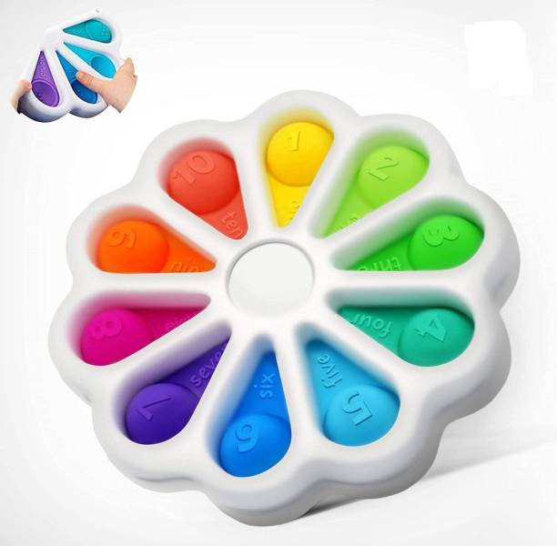 INDOBASIC pop it Push Pop Bubble Sensory Fidget Toy, Stress Relief and Anti-Anxiety Tools It Silicone -Relief Items Popper Educational ADHD Special Needs ,Set its pop it Toys (Dimple Digits POP IT) Gag Toy