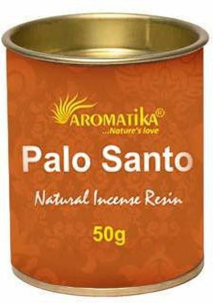 AROMATIKA Palo Santo Incense Resin 50g Jar Exotic & fresh fragrance.