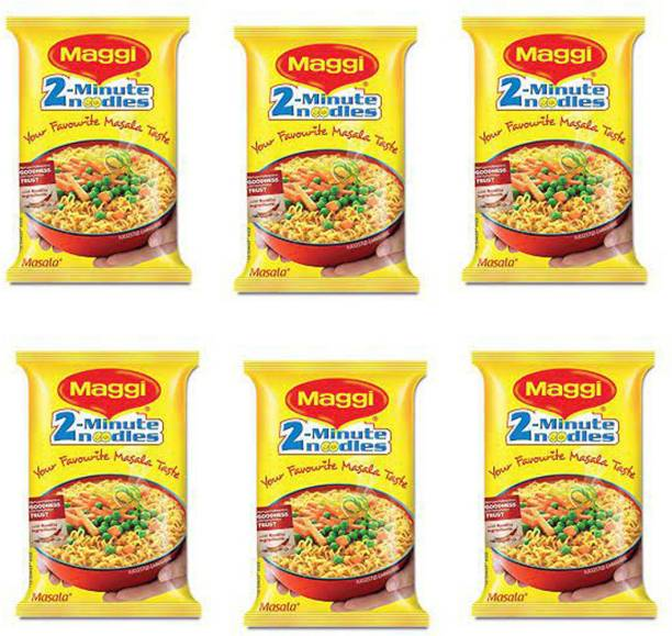 Maggi Masala Instant Noodles Vegetarian (70g 6) Instant Noodles Vegetarian
