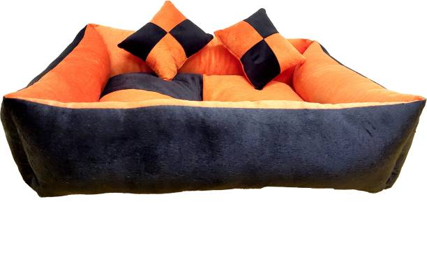 RK PRODUCTS 04 BLACK WITH ORANGE M Pet Bed