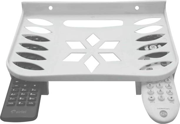 XGMO Set top Box Stand   Dish Tv Stand  Wall Mount Plastic Unbrackable Set Top Box Stand Wall Mount Shelf, DVD DTH Wall Holder, Wi-Fi Router Speakers Wall Shelf Size 240 x 165 mm 240X165mm Shelf Bracket