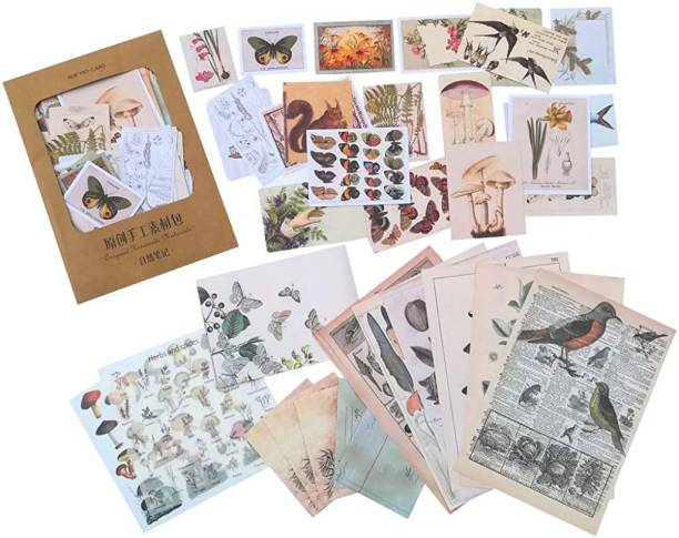 HASTHIP Small 55 Pcs Stickers Set Mucha Girls Journal Stickers for Planner DIY Decorative Stickers for Scrapbook Journaling Diary Book Planner Art Project 55 Designs (Multi-color5)