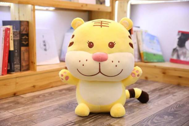 Hello Baby Super Soft Baby Tiger Soft Toy Single Piece 30Cm Size-Yellow  - 30 cm