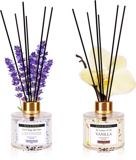 Soul & Scents Lavender, Vanilla Diffuser Set, Aroma Oil