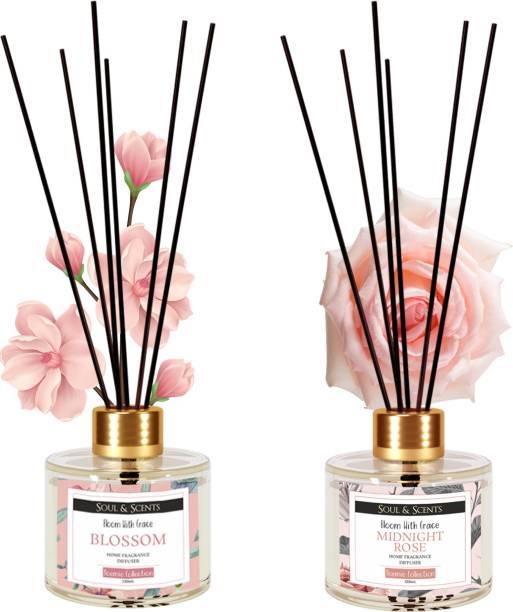 Soul & Scents Blossom, Rose Diffuser Set, Aroma Oil