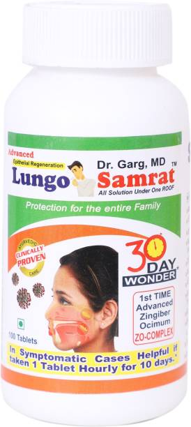 Sure Shot Herbals Adenoids/Tonsils/Throat Infection/Sinus - Dr. Garg's MD Lungo Samrat Tablets
