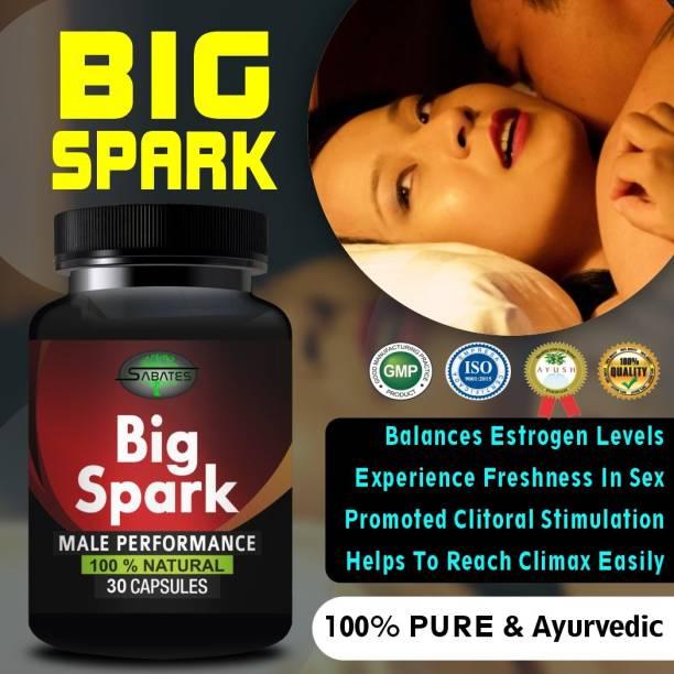 Sabates Big Spark Capsules For Men For ling mota lamba karne ki Dawai Sex Power Badhane Ki Dawa 100% Ayurvedic