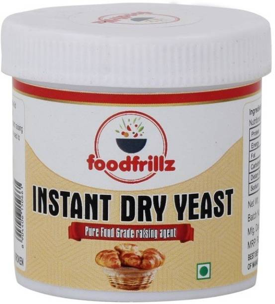 foodfrillz Premium Quality Instant Dry Yeast for raising dough, fermenting flour, instant raising ingredient, Combo Pack (40 g X 2) 80 gms Yeast Solid