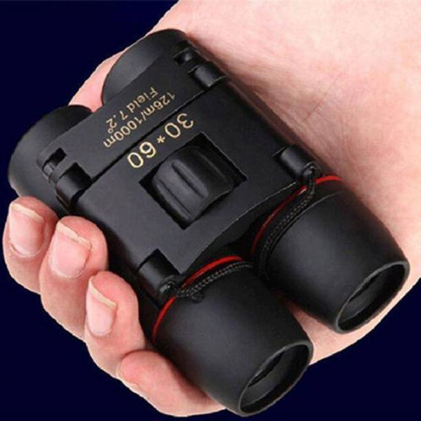 XTRDT 30x60 Magnification Foldable Outdoor Binoculars with Strap and Pouch Digital Binoculars Zoom Telescope 30x60 Folding Binoculars Binoculars