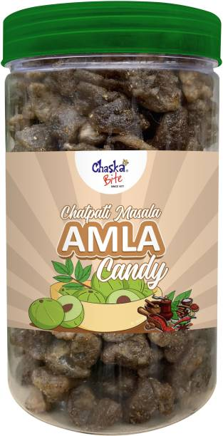 CHASKA BITE Chatpata Amla Gooseberry Candy 500g Sweet and tangy Amla Candy pouch pack Chatpata flavor Candy
