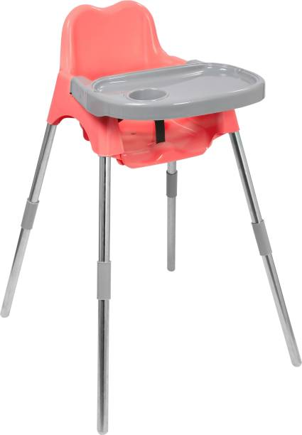Esquire Luna Baby Dining Chair with Tray, Pink-Grey Colour