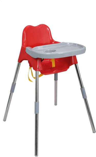Esquire Luna Baby Dining Chair with Tray, Red-Grey Colour