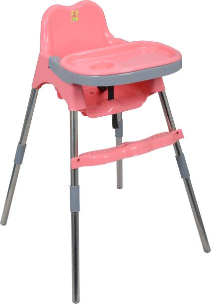 Esquire Spotty Baby Dining Chair with Footrest, Pink-Grey Combo
