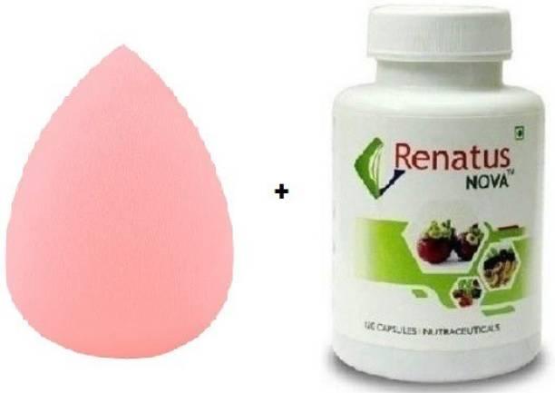 Kinjpaa Sponge Puff + Renatus Nova (120 capsules)