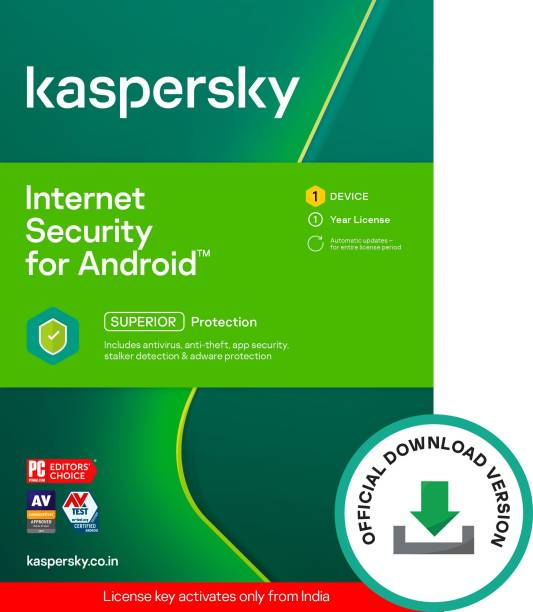 Kaspersky 1 Device 1 Year Mobile Security for Android (Email Delivery - No CD)