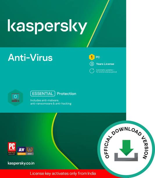 Kaspersky 1 PC 3 Years Anti-virus (Email Delivery - No CD)