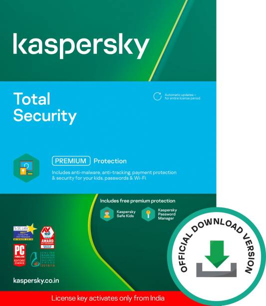 Kaspersky 2 PC 1 Year Total Security (Email Delivery - No CD)