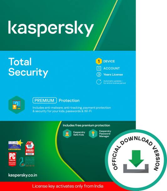 Kaspersky 1 PC 3 Years Total Security (Email Delivery - No CD)