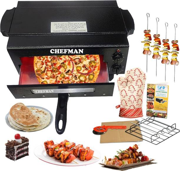 Chefman electric switch controller electric tandoor and barbeque grill 2000Watt with 2 Year warranty enjoy your delicious food with tandoori flavor Pizza Maker