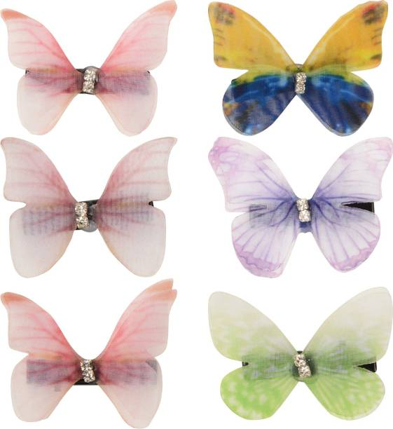 Arendelle Set of 6 Delicate Butterfly Hair Pins for Girls [AHA219] Hair Pin