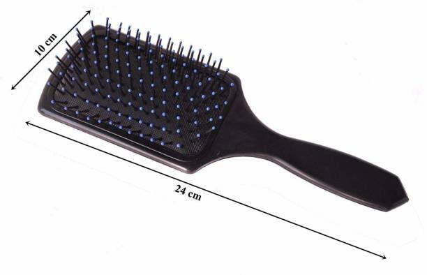 GRADEPLUS professional soft detangling hair paddle brush for men and women in color black