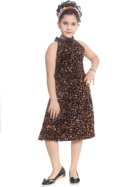 FTC FASHIONS Girls Midi/Knee Length Party Dress