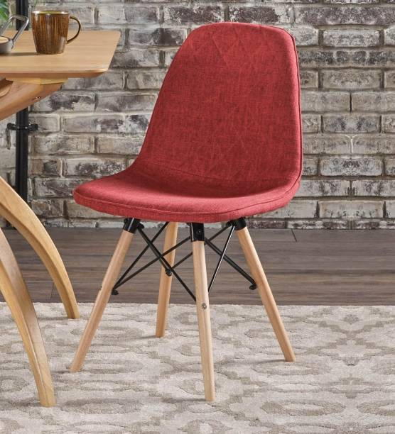 Flipkart Perfect Homes Callay Mid Century Eiffel Iconic Chair in Red Fabric Colour Fabric Living Room Chair