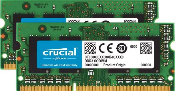 Crucial Crucial DDR3/DDR3L 1600 MT/s SODIMM Memory 8 GB Memory Stick Class 4 1599 MB/s  Memory Card