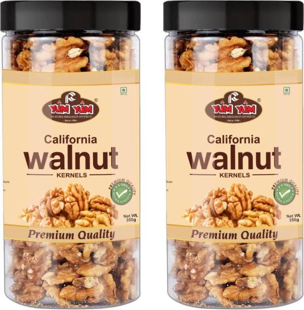 YUM YUM California Walnut Kernels (Akhrot Giri) 700g (Pack of 2 -350g Each) Walnuts