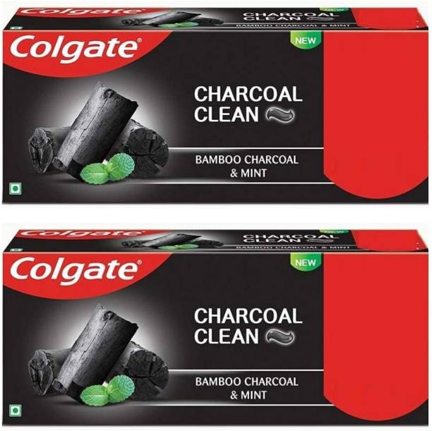 Colgate Charcoal Clean ,Bamboo Charcoal and Mint (Black Gel) Toothpaste