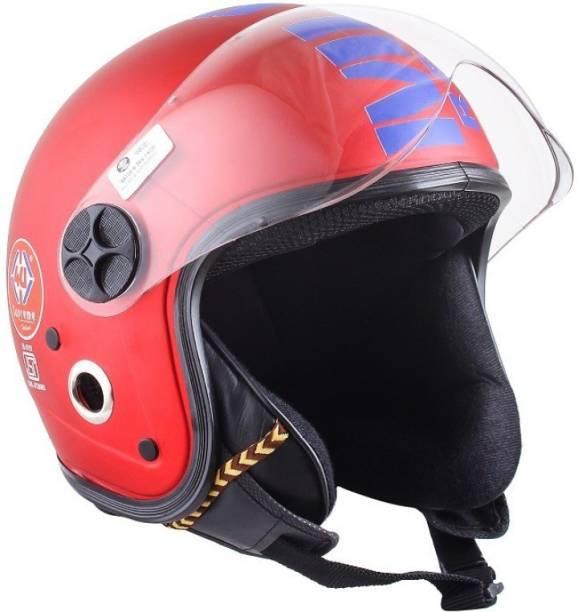4U SUPREME SUPREME 1 WITH PC VISOR ( OPEN FACE ) Motorbike Helmet