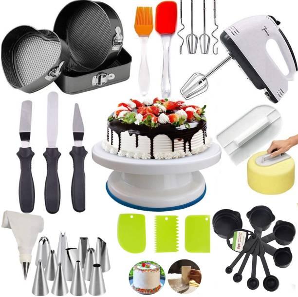 RAJJA combo56 Cake Decorating Tools, Big Combo for Cake Making Item kit, Multicolor, Plastic Kitchen Tool Set