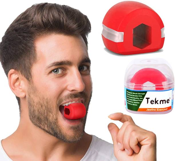 tekme Jaw exerciser 40-50-LBS define your jawline, Slim & tone your face, Look younger & healthier with Carrying Case Jawline Massager