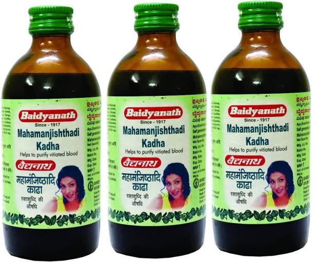 Baidyanath Mahamanjisthadi Kadha   Blood Purifier - 200 ml (Pack Of 3)