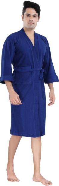 HotGown PLAIN ROYAL BLUE Large Bath Robe