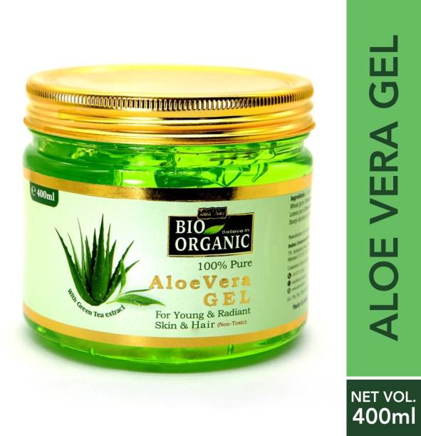 Indus Valley Bio Organic 100% Pure Aloe Vera Gel For Young and Radiant Skin and Hair