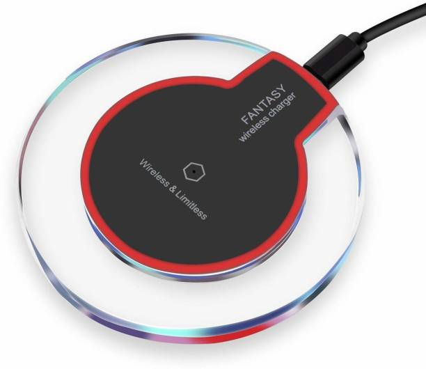 Viraan Wireless Charger for iPhone | Smart Phone for Wireless Charging, iPhone11/11Pro/11Pro Max/Xs/Xs MAX/XR/X/8/8Plus,Galaxy S20+/Note10/Note10+/S10/S10Plus/S10E/Note9/S9- Black Charging Pad