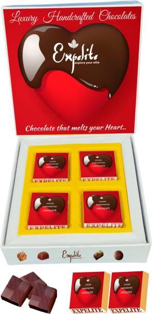 Expelite Handcrafted Chocolates - 4 pieces Chocolates Gift Box Luxury Theme Bars