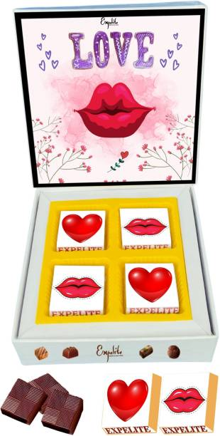 Expelite Romantic chocolate for Anniversary - 4 pieces wrapped Happy Anniversary Chocolate Gift Bars