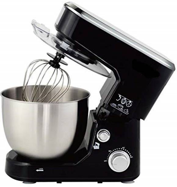 J. R. GLOBAL Stand Mixer Planetary Drive Food Mixer Tilt Head 5 Litres SS Bowl with 4 Speed for Baking and Cooking 1000 W Stand Mixer