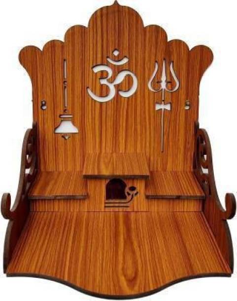 ETHNIC WALL ART TMPL031NENA (Height: 34, DIY(Do-It-Yourself) Engineered Wood Home Temple