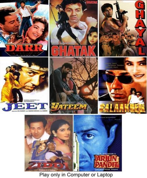 Darr , Ghayal , Ghatak , Ziddi , Yateem , Salaakhen , Jeet , Arjun Pandit (8 Movies) play only in computer or laptop it's not original without poster