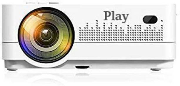 PLAY MP1-A Smart WIFI 3D 4k Full HD LED Recently Launched Android 8.0 Projector   Genuine Multifunction  for Home Office & Entertainment   Bluetooth 4D keystone   300-inch Display  1920x1080P Portable Mini Digital Projector   ?VGA, USB, HDMI   ?Linux Based Portable Projector LCD Panel Home Theater with Remote Control (5000 lm / Wireless / Remote Controller) Portable Projector