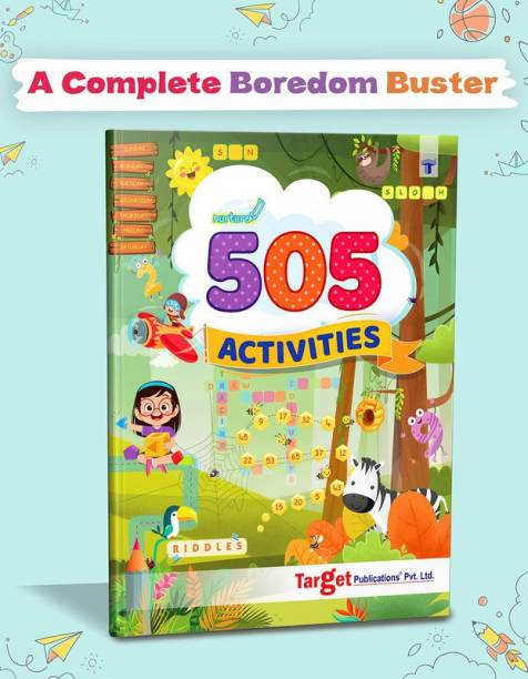 Nurture 505 Activities Book For Kids   English Activity Workbook With Various Fun Activities Like Art And Craft, GK, Puzzles, Crafts, Brain Teasers, Crosswords, Join The Dots, Drawing And Coloring
