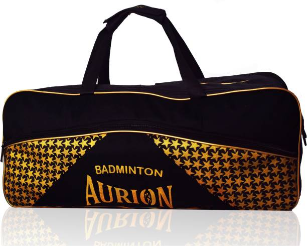 Aurion Badminton,Squash Racket Bag Shoulder Racket Bag for 6 Racquet Bag, Waterproof
