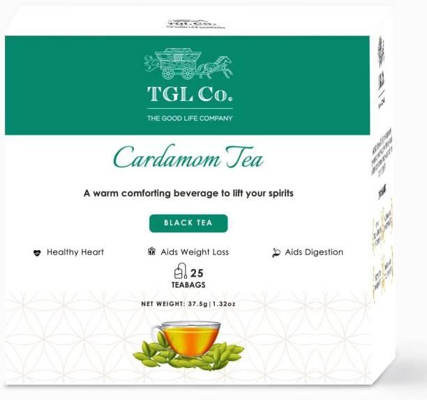 TGL Co. Cardamom Black Tea Bags 25 Tea Bag Black Tea Bags Box