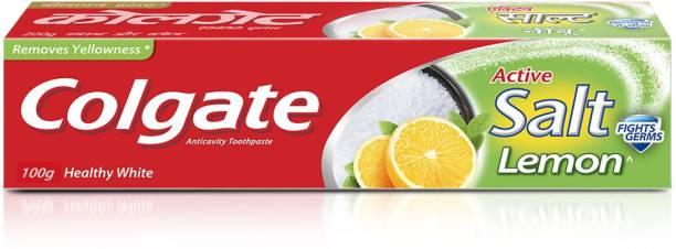 Colgate Active Salt Lemon Germ Fighting Toothpaste