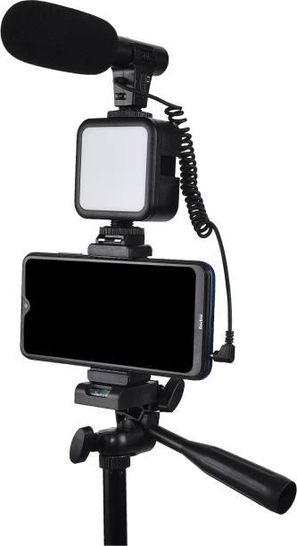 Xtreme Acoustics XAVLGK05 Shot-Gun Microphone vlogging kit for Live Streaming, Mic, Stand Kit (Vlogging Kit with Shotgun) Tripod Kit